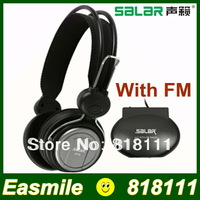 High Quality Salar A16 Earphone Noise-Isolating Headphone FM Radio Wireless Headset with Adjustment Button