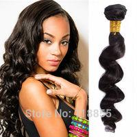 cheap Malaysian virgin loose deep wave hair black loose body wave hair weave 4pcs 400g 6A loose deep curly hair free shipping