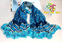 High quality free shipping 180*100cm   viscose cotton mix color tribal shawls/scarves/scarf/D650