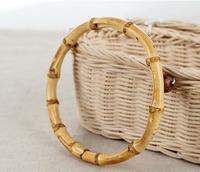Free shipping 15cm bamboo handle 2pairs/lot quality bag handle  Handmade Bag Accessory, Bamboo Handle.