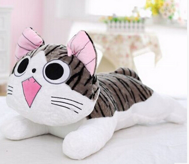 Christmas birthday gifts Japan anime figure cheese cat plush stuffed toy doll pillow cushion 20cm(China (Mainland))