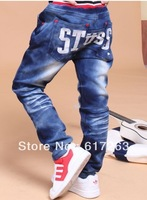 wholesale retail boys children jeans pants for boys fit 3-7yrs 2013 new kids jeans pants summer fall free shipping