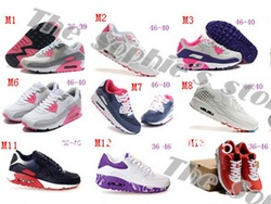 Free shipping Fashion brand new designer men/women running shoes,Hot selling Top quality Max VT sports 90,air sneakers,36 colors(China (Mainland))