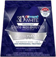 New  Boxed Crest 3D Whitestrips Luxe Supreme Flex Fit 28 Strips 14 Treatments Dental Whitening Kit