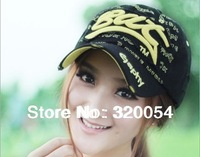 2013 new fashion embroidery baseball cap,  cotton sport cap, men and women hat, multicolor, free shipping