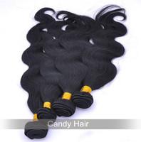 queen hair products brazilian virgin hiar body wave 4bundles lot 100% human hair extension jet black #1 hair weave free shipping