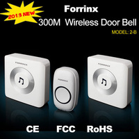 Forrinx AC  Remote Control Wireless Door chime, 2 Door Bell + 1 Remote Controller,Long Range  Digital Door chime,  Free Shipping