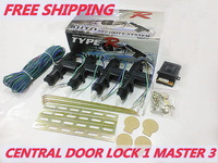 Car Central Door Locking System/Door Locking 12v 1 master 3 Door Actuator HL-2088-1M3-A fit for all car free shipping