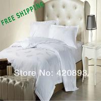 Free Shipping 300T 100% Combed Cotton Jacquard 4 PCS Bedding Set Queen Kinfg Duvet Cover Set Sheet Set Pillowcase