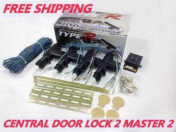 Car central door locking system Universal 12v HL-2088-2M2-B 2 master 2  High quality Free shipping