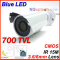 Free shipping,2013 Newest most popular 700TVL Waterproof Outdoor Camera, CMOS sensor, 24pcs Blue light, 24h day&night monitoring