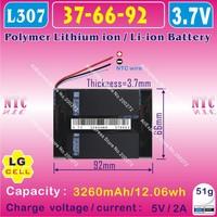 [L088] 3.7V,3260mAH,[376692] PLIB (polymer lithium ion / Li-ion battery / SAMSUNG CELL) for tablet pc,GPS,mp4,Q8,Q88,POWER BANK