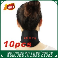 2013 hot selling/Tourmaline Self Heating Magnetic Therapy Neck Wrap Belt Neck Self Heat Brace Neck Support+free shipping