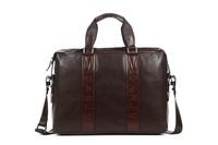 Genuine Leather Document handbag computer bag Crazy horse leather Man's handbags Danjue brand D90023-1