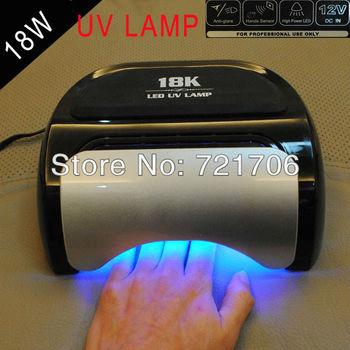 High-power led 18W uv lamp Curing Nail Art UV Lamp LED nail gels curing lights free shipping by DHL