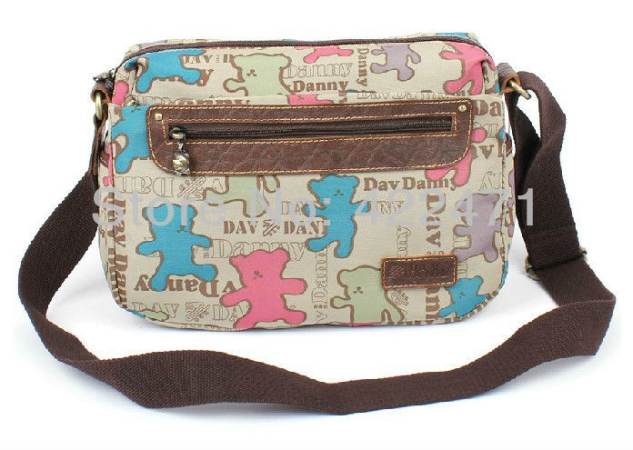 Italy Brand Name DavDanny Bear Design Women Shoulder Bag / Female Cross Body Bag / Girl Satchel Bag 206(China (Mainland))