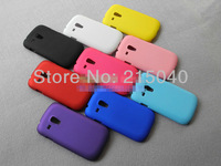 Free Shipping! Rubber Matte Hard Back Case for Samsung Galaxy S3 SIII Mini i8190, Frosted Cover for Samsung i8190, SAM-013