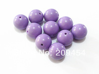 Factory Price 20mm100pcs/lot Light Purple Acrylic Round Beads,Acrylic Solid Beads,Chunky Beads For Necklace