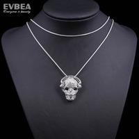 skeleton women costume cute skeleton necklace skull skeleton necklace stainless steel skull pendant necklace skeleton necklace