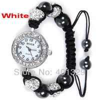 Wholesale Shambhala watch bracelet, Micro Pave Rhinestone Disco Balls, Gift Battery