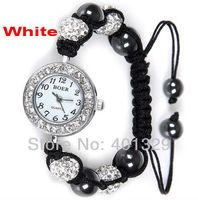 Wholesale Shambhala watch bracelet, Micro Pave Rhinestone Disco Balls, Gift Battery