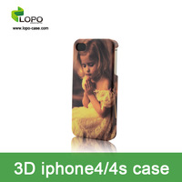 Free Shipping 3D Sublimation Case for iphont4/4s