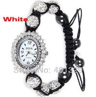 2014 Fashion Jewelry Shamballa Bracelet Watch Wholesale, Free Shipping! Gift Battery