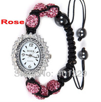 New Fashion Jewelry! Young Lady's Wristwatch - Shamballa Bracelet Watch Wholesale, Gift Battery