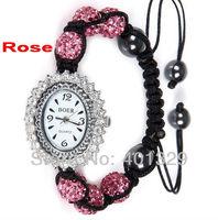 New Fashion Jewelry! Young Lady's Wristwatch - Shamballa Bracelet Watch Wholesale, Gift Battery