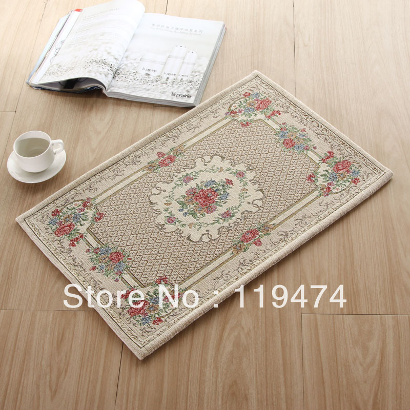 European rural slippery bibulous jacquard carpet mat door mat,.carpets and rugs,50X80CM(China (Mainland))