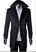 Men's windbreaker long in cultivate one's morality leisure coat coat