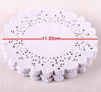 11.25cm 180pcs White Cutout Flower Lace Paper Cupcake Liners Bulk Doily Placemats