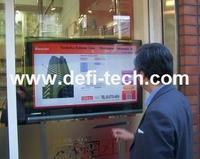 "55""   Interactive Dual touch foil Film through glass"