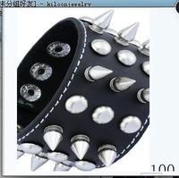 Free shipping! hot sale!  punk metal rivets leather bracelet wristbands genuine leather cuff bracelet