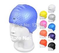 Drop swimming cap lyrate plus size slip-resistant waterproof silica gel swimming cap