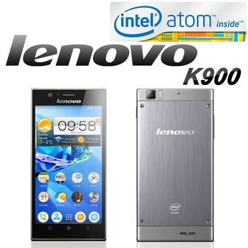 Original Lenovo K900 Atom Dual Core 4 thread 1.8Ghz CPU Android 4.2 Phone+5.5'' IPS 1920*1080p 401ppi screen+2G RAM+13MP Camera