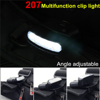 2PCS\LOT WH-207 0-90 degrees can change the viewing angle mini cap lamp headlights Multifunction clip lights