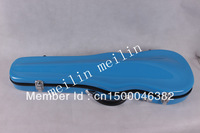 Very Beautiful Violin Case Fiber Glass Light Blue Strong Light Inside is Soft velvet material.(4/4 size)
