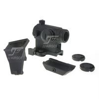 JJ Airsoft T1 / T-1 Red Dot with Killflash, 45 Degree Offset Mount, QD Mount and Low Mount (Black) FREE SHIPPING