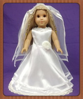 "Free shipping! Doll Clothes wedding dress  fits for 18"" American Girl Dolls,girl birthday gift  D01"