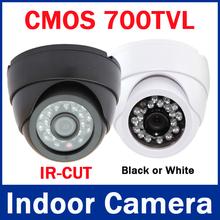Free Shipping to RU! 1/3 CMOS 700TVL  24 IR Led 3.6mm Lens Indoor Dome Camera Security Surveillance  CCTV Camera