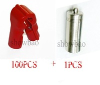 6mm 100pcs stop lock+1pcs detacher hook stop lock/ security lock Red color