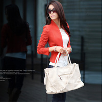 Free shipping 2014 New Women's  Fashion OL suit jacket Three Colors For Choose  Blue Camel Tangerine  Retail  Wholesale#12557