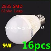 16pcs/lot E27 9W 2835SMD AC85-265V Bubble Ball Bulb High power Energy Saving Ball LED Light Bulbs Lamp Lighting Free shipping