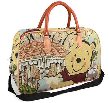 Free shipping fashion cartoon luggage bag women large capacity travel duffles shoulder sling bags