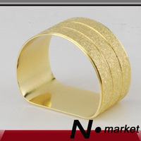 Free Shipping 2013 Gold D Semicircle Napkin Rings Dinner Room Napkin Holder For Table Decoration Restaurant