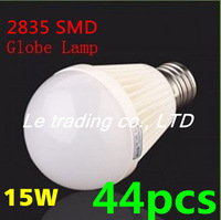44pcs/lot E27 15W 2835SMD AC85-265V Bubble Ball Bulb High power Energy Saving Ball LED Light Bulbs Lamp Lighting Free shipping