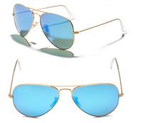 blue mirror sunglasses men women brand designer 2014 rb sunglasses 3025 classic/fashion,metal sunglasses wholesale,freeshipping
