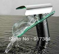 Glass Waterfall Faucet Bathroom Basin Mixer Tap JN8229