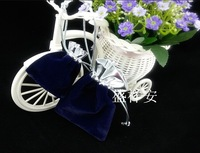 100% Velvet  9x14cm Blue Color High Quality Velvet Drawstring Pouch Bag/Jewelry Bag,Christmas/Wedding Gift bag